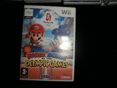 nintendo wii -  mario & sonic olympic games - 100% boxed complete