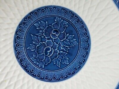 Antique Vintage Asian Porcelain Plate Bowl Platte Signed Japanese Chinese Blue