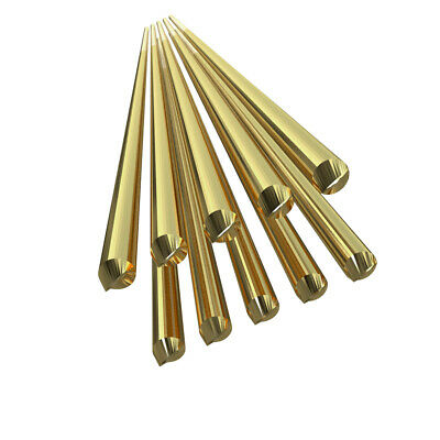 10pcs Brass Welding Wire Electrode 1.6mm*250mm Soldering Rod No Need Solder M1H4