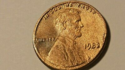 1982 Lincoln Memorial Cent Struck in Grease Mint Error
