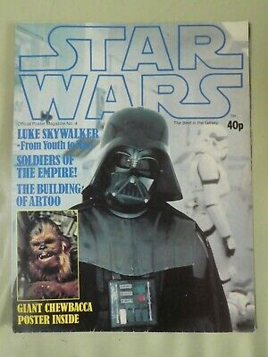 "STAR WARS OFFICIAL POSTER MAGAZINE  NO 4  1978. Chewbacca 34"" x 22 1/2"""