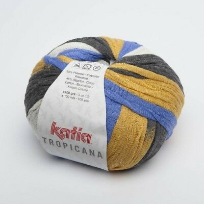 Tropicana from Katia - Ocre / Azul / Blanco/ Gris (308) - 100 G/Approx. 100 M