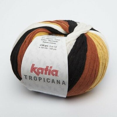 Tropicana from Katia - Negro/ Blanco/ Tostados (304) - 100 G/Approx. 100 M Wool