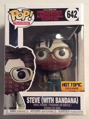 Funko Stranger Things Pop! Steve With Bandana #642 Figure Hot Topic Exclusive