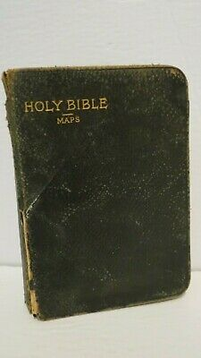 Antique Holy Bible Maps 1897 - Oxford Old and New Testament Small Size London