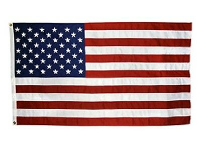 AMERICAN FLAG, 100% MADE in U.S. 4X6' ALL-WEATHER  nylon, embroidered stars