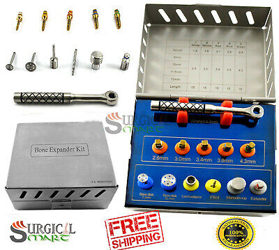 Dental Bone Expander Kit Sinus Lift with Saw Disks Surgical Implants Instruments