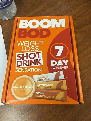 2/NEW! BOOMBOD - Weight Loss 7 Day Achiever. 21 Sachets/Clinically Proven Mango