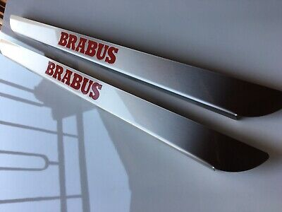 Stainless Steel Door For Smart Brabus 451 Fortwo 2008 To 2013 Red Logo