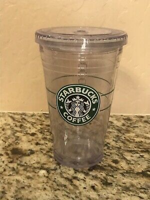 64a85d5077a STARBUCKS GRANDE CLEAR Double Wall Acrylic Cold Cup Tumbler 16oz ...