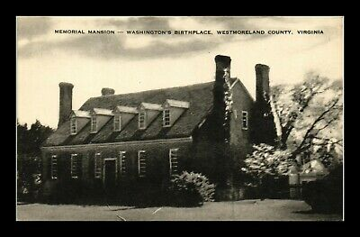 Dr Jim Stamps Us Memorial Mansion Virginia Washington Birthplace Postcard