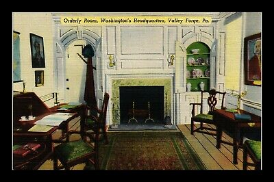 Dr Jim Stamps Us Washington Headquarters Valley Forge Orderly Room Postcard