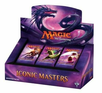 Magic the Gathering Iconic Masters Factory Sealed Booster Box MTG Card Game - 24