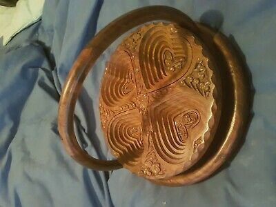 Vintage ? Lovely Unusual Wooden Fancy Carved Fruit Bowl / Table Centre