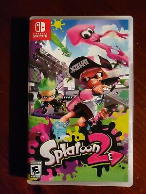 Nintendo Switch Splatoon 2 New Opened Complete Video Game