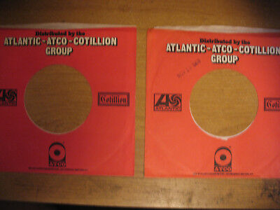 2 Atlantic-Atco-Cotillion Records Genuine Company Sleeves Only 45rpm No Records
