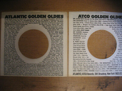 2 Atlantic-Atco Golden Oldies Records Company Sleeves Only 45rpm No Records