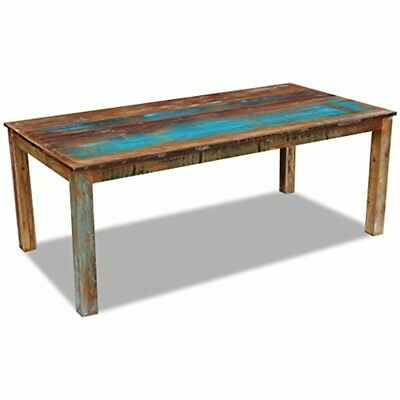 Large Reclaimed Wood Dining Table Kitchen Antique Style Family Dinner Indoor New