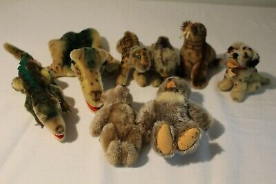 Vintage Steiff Lot Of 10 Animals & Puppet Some W/ Tags