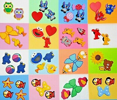 Stitch, Fish, Muppet Shoe Charms Shoe Buttons Shoe Decorations Cake Toppers