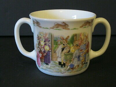 Royal Doulton~Bunnykins~Fine bone China Two-Handled Christening Cup~England