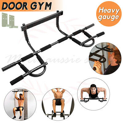 Chin Up Mounted Pull Up Bar Exercises Gym Doorway Portable Workout Home Fitness