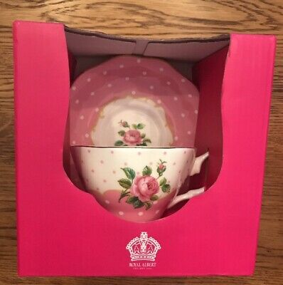 Royal Albert Cheeky Pink Vintage Teacup & Saucer New In Box