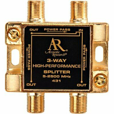 3 Way Video Splitter Acoustic Research Pro Series II PR431 Gold Plated Contacts