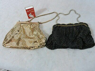 Lot of 2 Vintage Mesh Hand Bags Glomesh Whiting and Davis 2924
