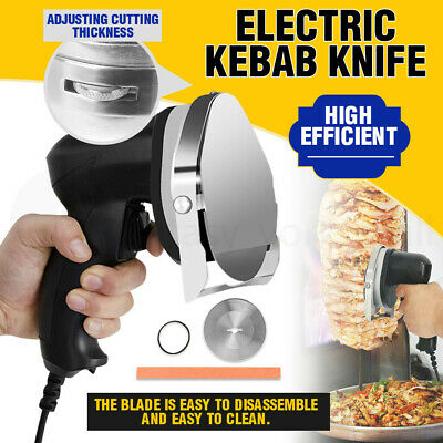 Commercial Kebab Wheel Knife Electric Meat Carver Shawarma Slicer Cutter Tool AU