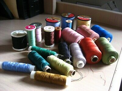 20  Cotton Reels All With Cotton Some Unused
