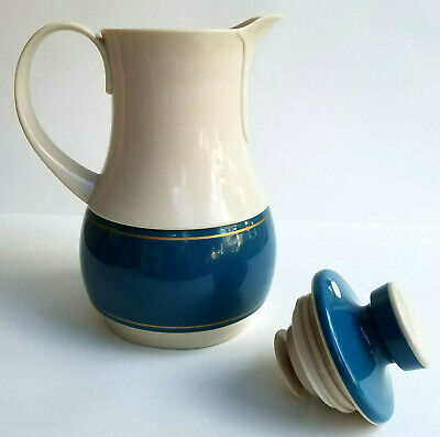 Vintage Thermos Ingried Coffee Carafe 570 Pitcher West Germany 32 Oz Blue Cream