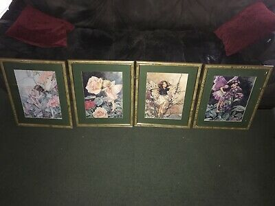 Cicely Mary Barker Flower Fairies Pictures Faerie Fairy Set Four Framed