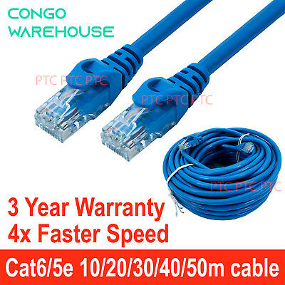 10m 15m 20m 30m 40m 50m Ethernet Network Lan Patch Cable CAT 6 1000Mbps RJ45