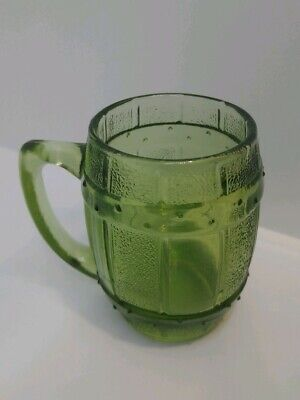 Vintage Beer Barrel Mini Mug Handle Shot Glass Green Home Decor Toothpick Holder
