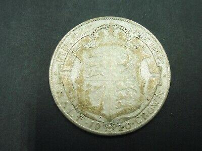 George V Silver 1920 Half Crown $1 START