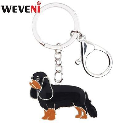 Cavalier King Charles Spaniel Key Ring 4 colors to choose from