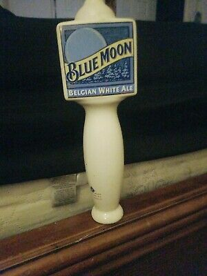 "Blue Moon Belgian White Belgian-Style Wheat Ale Beer Tap Handle 10"" tall"
