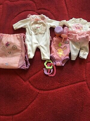 Budle Of Baby Born And Baby Annabell Clothes Bottles