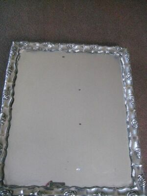 Antique Continental Silver Rectangular Easel Mirror  3RING19