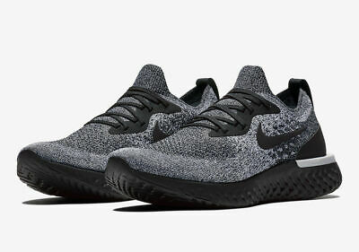 Nike Epic React Flyknit Men's Running Shoes Aq0067-011 Oreo Black/Black-White