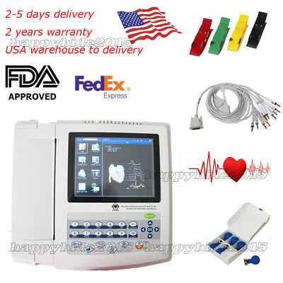 12 Channel 12 lead ECG/EKG machine+software+Thermal Printer Electrocardiograph