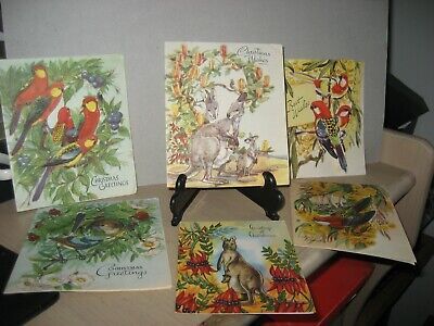 VINTAGE LOT OF 5th Avenue Christmas cards  1950's  x 6