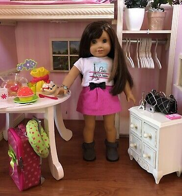 """Grace Thomas American Girl 18"""" Doll Cooking Chef Year 2015 Box Book Extras Lot"""