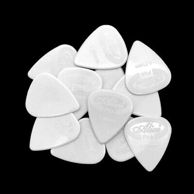 100pcs Alice Guitar Picks Nylon Mediator for Electric, Acoustic and Bass Guitars