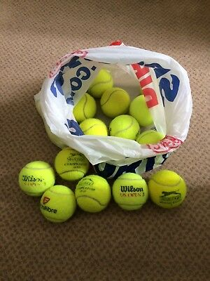12 Used Tennis Balls, Wilson and Slazenger, Great Dog Toys