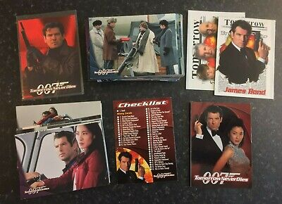 JAMES BOND 007 Trading Cards TOMORROW NEVER DIES 1997 Complete Set + Promo No.2
