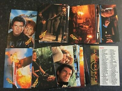 JAMES BOND 007 Trading Cards GOLDENEYE 1995 Complete Set - 90 Cards