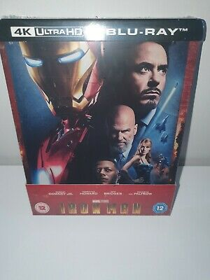 Iron Man 4K Ultra HD + 2D Blu-ray UK Exclusive Steelbook New and Sealed-In Hand+