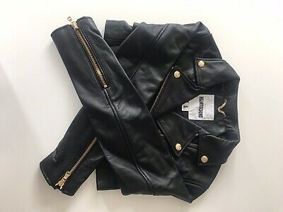 1057c23a9 H&M X MOSCHINO H&MOSCHINO Black Cropped Leather Jacket Size Small BNWT Sold  Out